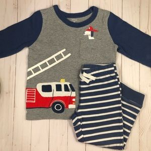 Carter's Fire Truck Long Sleeve Shirt & Pants Set